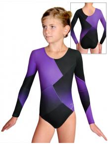 Gymnastický dres D37d-52 t122 černofialová