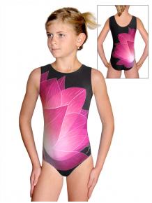 Gymnastický dres D37r t137 černorůžová