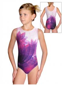 Gymnastický dres D37r t140 fialová
