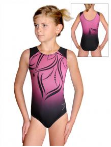Gymnastický dres D37r t133 černorůžová
