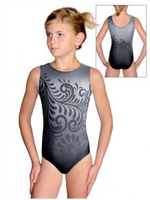 Gymnastický dres D37r t135 černošedá
