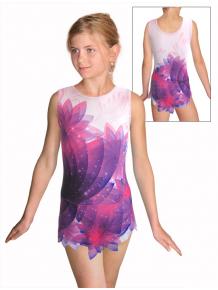 Dres na moderní gymnastiku - trikot M915 t140 fialová