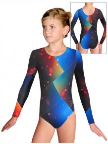 Gymnastický dres D37d-52 t144 modročervená