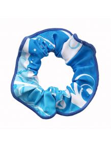 Gumička do vlasů - scrunchie - t101 modrá