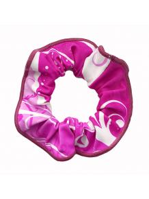 Gumička do vlasů - scrunchie - t101 růžová