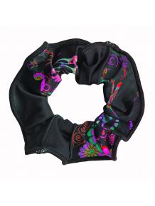 Gumička do vlasů  -  t139 černá s růžovou