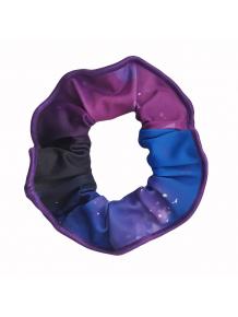 Gumička do vlasů - scrunchie - t210 modrofialová