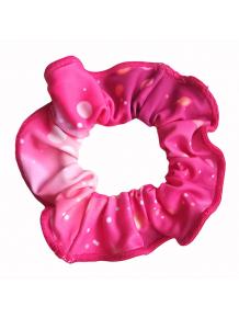 Gumička do vlasů - scrunchie - t306 růžová
