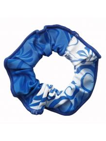 Gumička do vlasů - scrunchie - t311 modrá