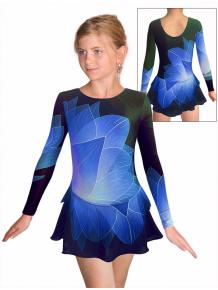 Krasobruslařské šaty - trikot K742 t137 černomodrá