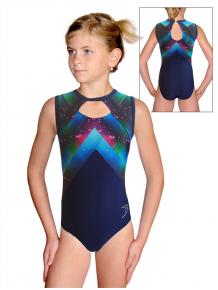 Gymnastický dres  D37r-66 t144 fialovomodrá