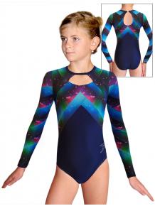 Gymnastický dres  D37d-67 t144 fialovomodrá