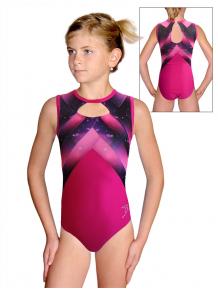 Gymnastický dres  D37r-66 t144 fialovorůžová