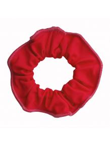 Gumička do vlasů - scrunchie - červená  matná plavkovina