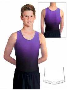 Gymnastický dres chlapecký, pánský D37chn t122 černofialová ombré