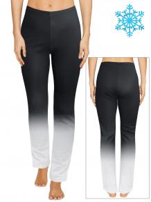 Dámské zateplené sportovní kalhoty T36r t122 černošedá ombré TERMO