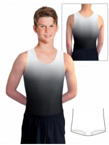 Gymnastický dres chlapecký, pánský D37chn t122 černošedá ombré