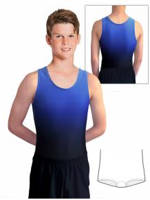 Gymnastický dres chlapecký, pánský D37chn t122 černomodrá ombré