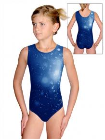 Gymnastický dres D37r t207 tmavě modrá