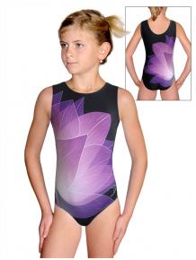 Gymnastický dres D37r t137 černofialová