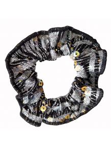 Gumička do vlasů - scrunchie - v465 s leskem