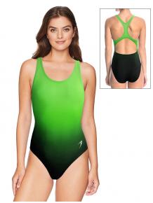 Dámské sportovní plavky jednodílné P623  t122 černozelená ombré