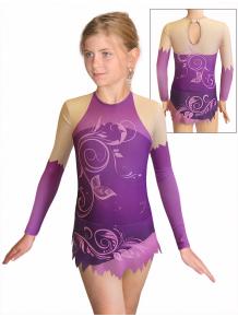 Dres na moderní gymnastiku - trikot M916 t502 fialová