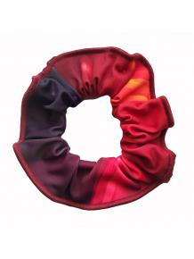 Gumička do vlasů - scrunchie - t152 červenooranžová