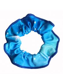 Gumička do vlasů - scrunchie - t151 modrá