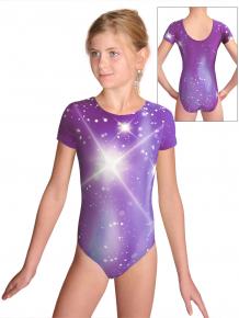 Gymnastický dres  D37kk t151 fialová