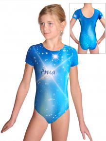 Gymnastický dres  D37kk t151 modrá se jménem