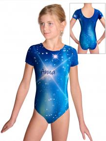 Gymnastický dres  D37kk t151 tmavě modrá se jménem