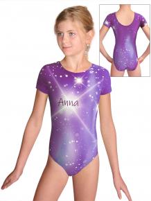 Gymnastický dres  D37kk t151 fialová se jménem