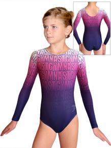 Gymnastický dres D37d t150 modrorůžová