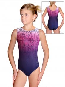 Gymnastický dres D37r t150 modrorůžová