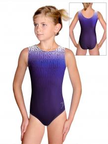 Gymnastický dres D37r t150 fialovomodrá