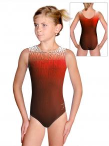 Gymnastický dres D37r t150 červenooranžová