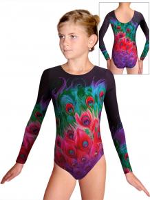 Gymnastický dres D37d t153 růžovozelená