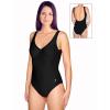 Dámské plavky jednodílné s kosticemi P601 černá