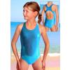 Dívčí sportovní plavky jednodílné PD545sl tyrkysová