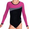 Gymnastický dres B37d-3 černo-růžová