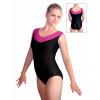 Gymnastický dres B37r-44 černo-růžová