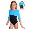 Gymnastický dres S37tr-dv černo-tyrkysová