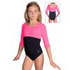 Gymnastický dres S37tr-dv černo-reflexní růžová