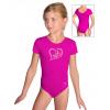 Gymnastický dres S37kk_f5 tmavě růžová