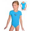 Gymnastický dres S37kk_n52 tyrkysová