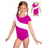 Gymnastický dres S37kk-dv tmavě růžovo-bílá
