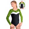 Gymnastický dres S37d-24 černo-reflexní zeleno-bílá