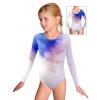 Gymnastický dres závodní D37d_t100 s modrou