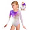 Gymnastický dres závodní D37d_t100 s fialovou